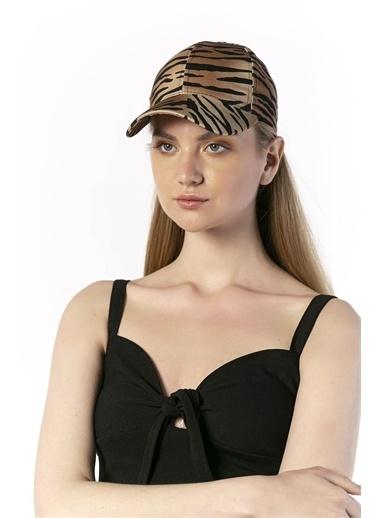 Y-London 14067 Zebra Desenli Baseball Şapka Renkli